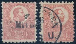 O 1871 KÅ'nyomat 5kr Kármin és Téglavörös Színben, Szép Daraok... - Stamps