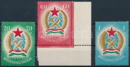** 1949 Alkotmány Sor Makkos Vízjellel (22.000) (1Ft Törés) - Stamps