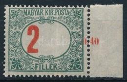 ** 1915 Pirosszámú Zöldportó 2f Balra Tolódott értékszámmal,... - Stamps