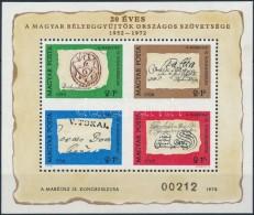 ** 1972 Bélyegnap (45.) Blokk Hátoldalán 'A MAGYAR POSTA AJÁNDÉKA' Felirattal... - Stamps