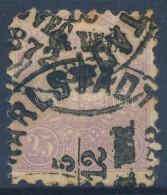 O 1871 KÅ'nyomat 25kr 'KARLSTADT' (40.000) (sarokhiba / Missing Corner Perf.) - Stamps
