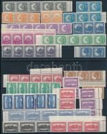 ** 1926 5 Db PengÅ'-fillér I. A Sor összefüggésekben (150.000) (ráncok, Apró... - Stamps