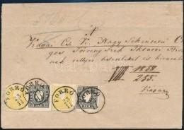 1858 2 X 2kr I. Típus + 2 X 3kr I. Típus Levélen 'FORRÓ' - Kassa, Friss,... - Stamps