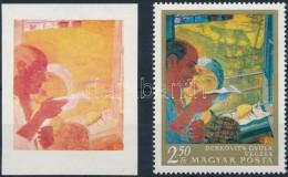 (*) 1967 Festmények III. 2,60Ft Vágott  Bélyeg Kék, Arany és Fekete... - Stamps