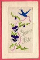 Carte Brodée - Bonne Fête - Borduurwerk