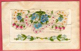 Carte Brodée -  Fleurs - Borduurwerk