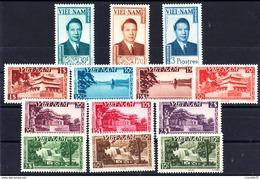 VIETNAM EMPIRE- N° 1/13** - Empereur BAO-DAI - Vues De HUE. SAÎGON. HANOÏ. Série Complète. LUXE. - Vietnam