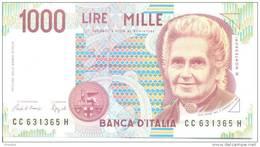 ITALY P. 114a 1000 L 1993 UNC - [ 2] 1946-… : République