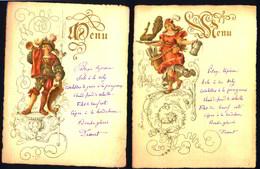 Menus Illustrés Gravés Et Manuscrits, S.d. - Menus
