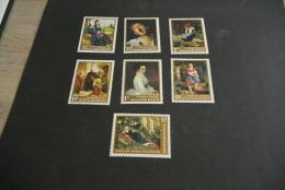 K12305- Set MNH Hunagry - 1966-  MI2291-2297- SC. 1795- 1801- Paintings - Arte
