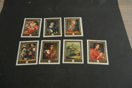K12340-set MNH Hungary 1969 - Mi 2555-2561- SC. 2008-2014- Dutch Paintings - Arte