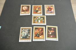 K12361- Set MNH Hungary 1977 -  MI 3192-3198-  SC. 2478-2484- Flowers By Hungarian Painters - Arte