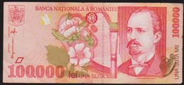 1965 (ND) P-13J ROMANIA 100,000 LEI NOTE IN A CRISP HIGH GRADE. - Romania