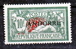 Andorre  22 Merson Traces Jaunes Au Verso Neuf ** TB MnH Sin Charmela Cote 640 - Nuovi