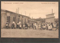 Vrouwenkamp Albert's Dorp.Speelplaats Bij De School . Oorlog 1914-1918. Internering. Grande Guerre - Zeist
