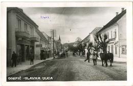 Gospić Glavna Ulica Old Photopostcard (Griesbach & Knauch) Travelled To Markuševac 194? Bb170701 - Croazia