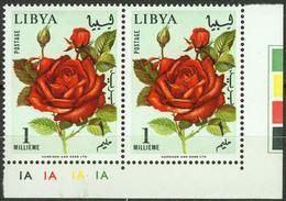 Libya 1965, Flowers Pair Mi.# 193, MNH / ** - Libia