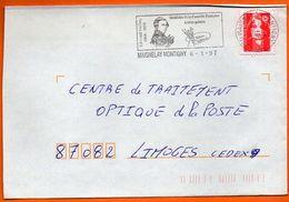 60 MAGNELAY MONTIGNY     EDMOND GEFFROY ARTISTE PEINTRE    1997 Lettre Coupée N° EE 530 - Postmark Collection (Covers)