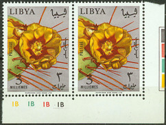 Libya 1965, Flowers Pair Mi.# 195, MNH / ** - Libia