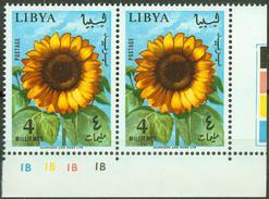 Libya 1965, Flowers Pair Mi.# 196, MNH / ** - Libia