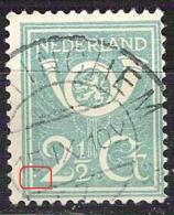 NEDERLAND NVPH 112 Met Plaatfout/druktoevalligheid Witte Punt Linksonder Tegen Kaderlijn. Niet Vermeld In NVPH Of Mast - Variétés Et Curiosités