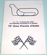St47. Marcofilia - Monza 2001 - FERRARI - Folder 72° Gran Premio D'Italia, Con Serie Annulli Filatelici Dedicati - 6. 1946-.. Republic