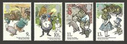 GB 1979 IYOC YEAR OF CHILD ALICE PETER RABBIT POOH BEAR SET MNH - 1952-.... (Elizabeth II)