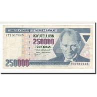 Turquie, 250,000 Lira, 1998, KM:211, TB - Turquie