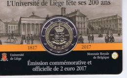 Belgio - 2 Euro Commemorativo 2017 - Università Di Liegi - Belgique