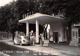 "D6188 ""TORINO - S.I.R.P.A. - SERVIZIO SHELL - CORSO G. MARCONI 4 ANG. VIA NIZZA"" ANIMATA, DISTRIBUTORE. CART  SPED 1950 - Transports"