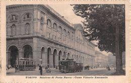 """D6193 """"TORINO- PORTA NUOVA - C.SO VITTORIO EMAN. II """" CART   SPED 1918 - Stazione Porta Nuova"""