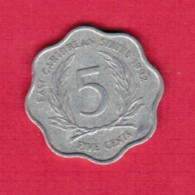 EAST CARIBBEAN STATES   5 CENTS 1992 (KM # 12) - East Caribbean States