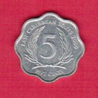 EAST CARIBBEAN STATES   5 CENTS 2000 (KM # 12) - East Caribbean States