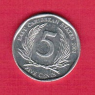 EAST CARIBBEAN STATES   5 CENTS 2002 (KM # 36) - East Caribbean States