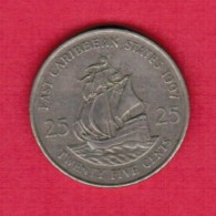 EAST CARIBBEAN STATES   25 CENTS 1997 (KM # 14) - East Caribbean States