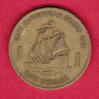 EAST CARIBBEAN STATES   $1.00 DOLLAR 1981 (KM # 15) - East Caribbean States