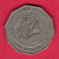 EAST CARIBBEAN STATES   $1.00 DOLLAR 1989 (KM # 20) - Oost-Caribische Staten
