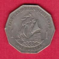EAST CARIBBEAN STATES   $1.00 DOLLAR 1998 (KM # 20) - East Caribbean States