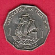 EAST CARIBBEAN STATES   $1.00 DOLLAR 2000 (KM # 20) - East Caribbean States