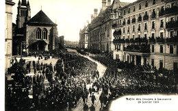 AG 102 / C P A  - SUISSE -  LAUSANNE - DEFILE DES TROUPES 26 FEVRIER 1915 - Schweiz
