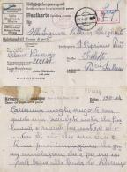 CARTOLINA POW CAMP BAU U.ARBEITS  BTL 196 BERLIN GERMANY 1944 FILETTO - 1900-44 Vittorio Emanuele III