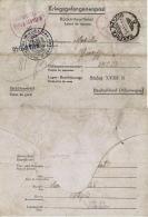 BIGLIETTO CAMPO PRIGIONIERI STALAG XVIII-B SPITTAL AUSTRIA 1944 CASERTA GEMONA - Military Mail (PM)