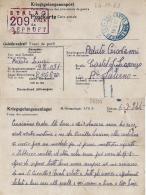 CARTOLINA POW CAMP STALAG XVII-B GNEIXENDORF AUSTRIA 1944 CASTEL SAN LORENZO - Militärpost (MP)