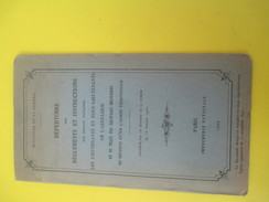 Règlements Et Instructions/Les Lieutenants Et Sous-lieutenants De L'Artillerie/Imp. Nation./Minist Guerre/1902  LIV125 - Livres