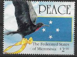 1991 MICRONESIE 172** Paix, Oiseau, Frégate - Micronésie