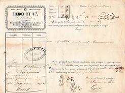 1843 - TOULOUSE (31) Rue Sainte-Ursule - ROULAGE - Maison HERON Et Cie - - Historical Documents