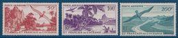 OCEANIE - PA 26/28  SERIE COMPLETE AVION PIROGUE OISEAUX NEUF* MLH COTE 90 EUR - Unused Stamps
