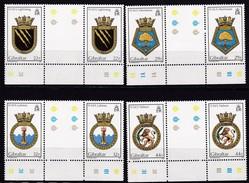 Gibraltar, 1986, 513/16, Schiffswappen, Ship Crest. MNH **, Gutter Pair - Gibraltar