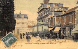 95-PONTOISE- PLACE DE LA GARE, VUE DE DROITE - Pontoise