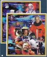 1998 MICRONESIE 565-80 ** Es^pace, Glenn, 2 Feuillets Dont 1 Avec Coin Gauche Plié - Micronésie